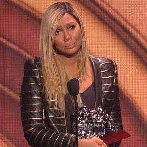 Tamar Braxton Cries While Accepting Soul Train Award For 'Love And War'