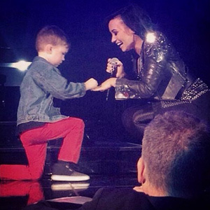 Grant Burt, 5-Year-Old Fan, Proposes To Demi Lovato Onstage