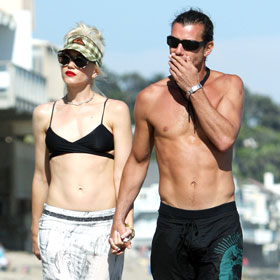 Gwen Stefani And Gavin Rossdale In Malibu