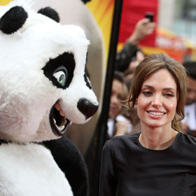 Angelina Jolie Takes Kids To 'Kung Fu Panda'