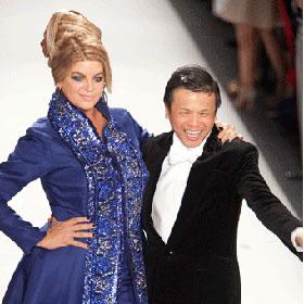 Kirstie Alley Walks Runway For New York Fashion Week