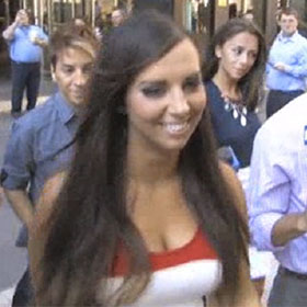 Sydney Leathers Stops By Anthony Weiner's Concession Event