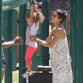 Halle Berry And Nahla Have Playtime