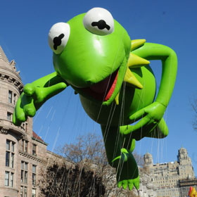 Kermit The Frog Floats Over Central Park