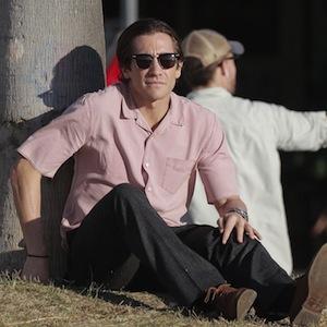 Jake Gyllenhaal On Set Of 'Nightcrawler'