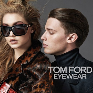 Patrick Schwarzenegger Models For Tom Ford With Gigi Hadid