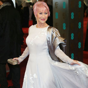 Helen Mirren Debuts Pink Hair At BAFTAs