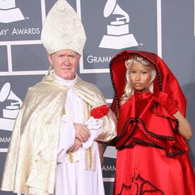 Grammys: Nicki Minaj & Her Papal Escort