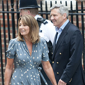 Kate Middleton's Parents, Michael And Carole Middleton, Visit Royal Baby