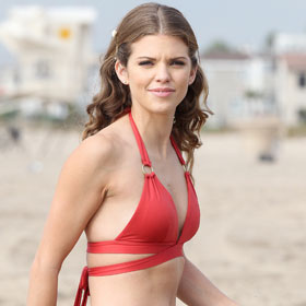Annalynne McCord Dons Red Bikini